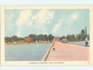 1950's GOVERNMENT DOCK Leamington - Near Windsor Ontario ON AD5578