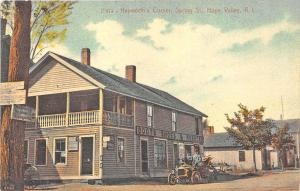 Hope Valley RI Hepworth's Corner General Store Old Car Postcard