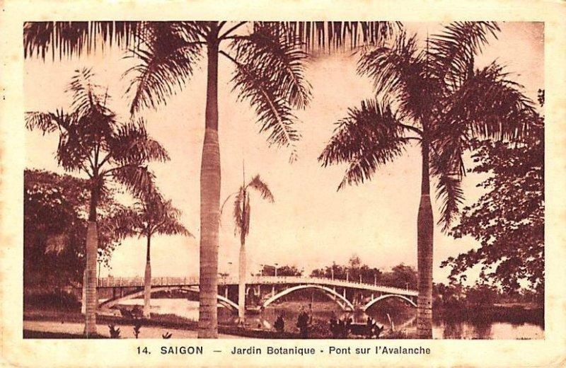 Jardin Botanique, Pont sur l'Avalanche Saigon Vietnam, Viet Nam Unused