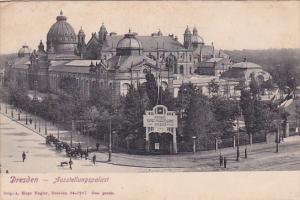 DRESDEN (Saxony), Germany, 1900-1910s; Ausstellungspalast