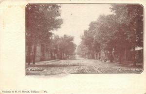 Williamsburg Pennsylvania~Second Street Homes~Wide Dirt Road~1909 B&W Postcard