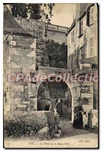 Old Postcard Pau Gate Lower City