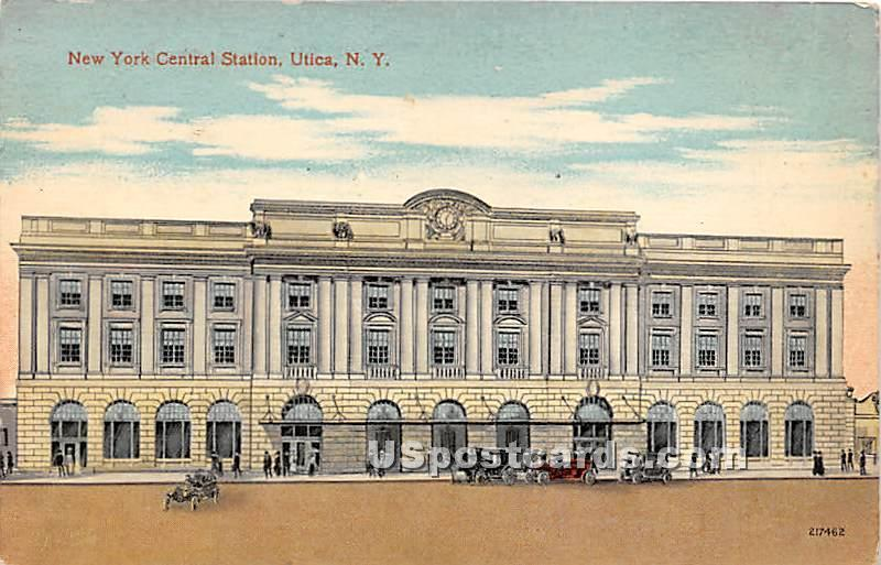 New York Central Station Utica NY Postal Used Unknown