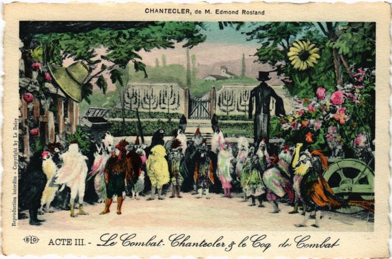 CPA AK Acte III-Le Combat-Chantecler & le Cog ARTISTE THEATRE STAR (319277)