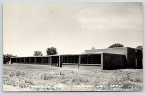 Creston Iowa~New? Franklin Modern School~Grounds Without Trees~RPPC 1940s