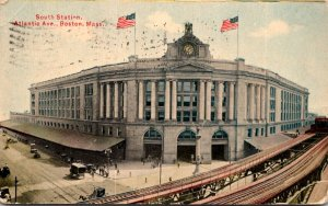 Massachusetts Boston South Station 1911