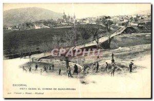 Old Postcard Escorial Vista Desde El Camino De Guadarrama Children