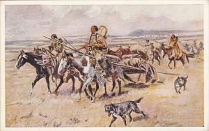 Artist C.M.RUSSEL ; Indian Women of the Plains , 00-10s