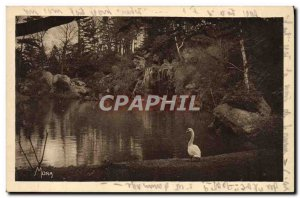 Old Postcard From Paris Wood Boutagne The Longchamp Cascade