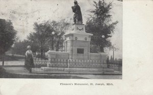 ST. JOSEPH , Michigan ; 1909 ; Firemen's Monument
