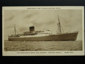 Union Castle Line 'PRETORIA CASTLE' ROYAL MAIL SHIP c1930s Postcard