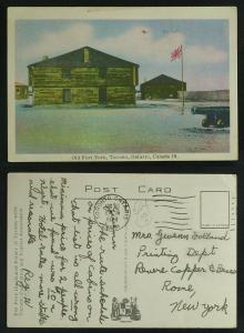 Old Fort York Toronto pmk 1948