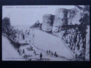 France DOMFRONT Rue des Barbacanes c1905 Postcard