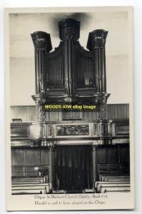 cu0288 - Pipe Organ . St Michan's Church , Dublin  , Ireland - postcard