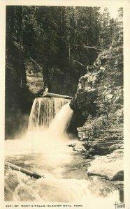 Hileman Glacier Montana RPPC Photo #367 Postcard St Mar's Falls 21-2117