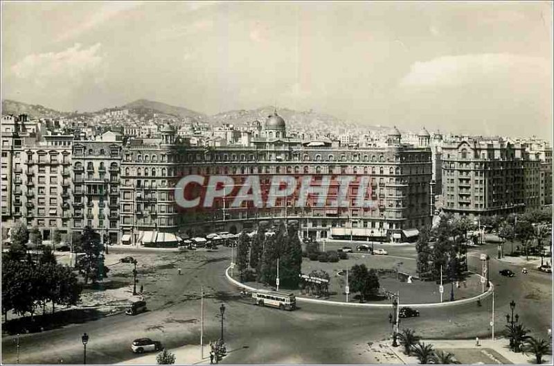 Postcard Modern Barcelona Plaza Calvo Sotelo