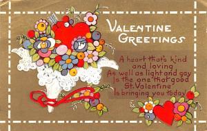 Valentines Day Post Card Old Vintage Antique Postcard 1936