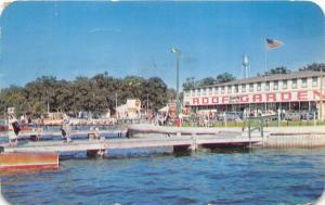 Lake Okoboji Iowa~Amusement Park~Boat Dock-7up Sign-Roof Garden~See Note Bk~1951