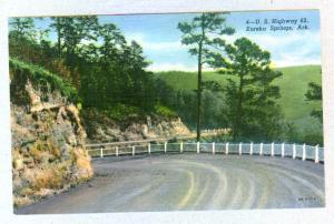 U. S. Highway 62, Eureka Springs, Arkansas unused Curteich linen Postcard