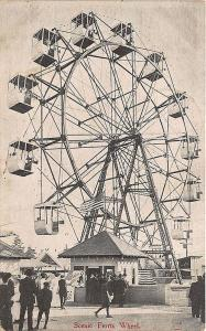 Seattle WA Alaska-Yukon Pacific Expo Ferris Wheel Amusement Postcard