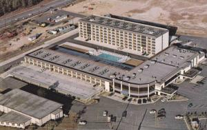 Aerial view,  Bordeaux Motor Inn/Convention Center,   Fayetteville,  North Ca...