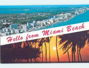 Unused Pre-1980 HOTELS ALONG BEACH Miami Beach Florida FL B0270
