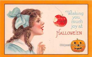 Halloween Post Card Old Vintage Antique Unused