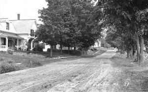 Thorndike ME Dirt Main Street Houses Swing RPPC Postcard