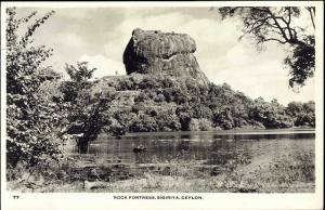ceylon, SIGIRIYA, Rock Fortress (1950s) RPPC