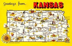 Maps Kansas USA Unused