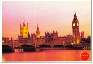 London Postcard, Big Ben & The Houses of Parliament, River Thames CW5