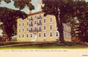 PRE-1907 WILLIAMSTOWN, MA WEST COLLEGE built 1790 WILLIAMS COLLEGE