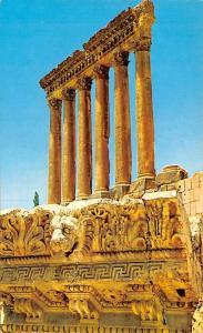 Baalbek, Lebanon Postcard, Carte Postale Temple of Bacchus and the six column...