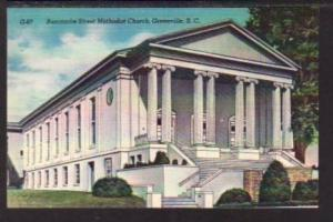 Buncombe Street Methodist Church Greenville SC Postcard 5906