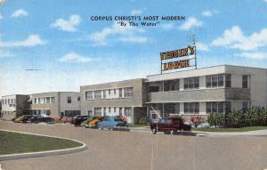 Corpus Christi Texas birds eye view Tedder's Lodge hotel apts antique pc Z21532