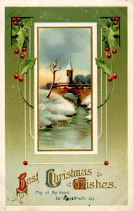 Greeting - Christmas        (embossed, gold)