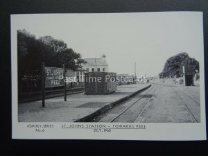 Isle of Man Railway ST JOHN'S STATION 1968 1980's Postcard by Breese Stamp