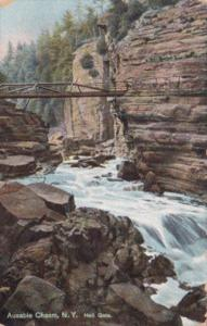 New York Ausable Chasm Hell Gate 1908