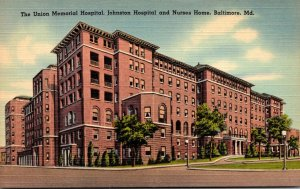 Maryland Baltimore Union Memorial Hospital Johnston Hospital and Nurses Home