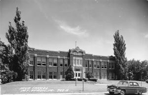 Mt Vernon Iowa~1953 Mercury @ The Art Deco High School RPPC
