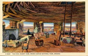 AZ - Grand Canyon National Park.  Kiva at Desert View (Fred Harvey)