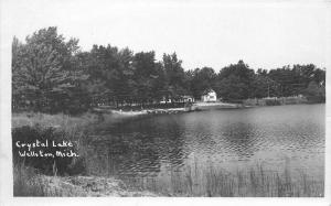 Crystal Lake Wellston Michigan 1940s RPPC Photo Postcard 5733