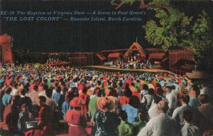 Postcard Baptism of Virginia Date Roanoke Island North Carolina