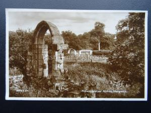 Northumberland Morpeth NEWMINSTER ABBEY RUINS c1923 RP Postcard by Valentine