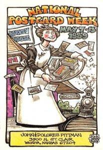 National Postcard Week Comic Wichita, KS Rick Geary Artist-Signed 1989 Postcard