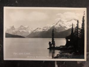 Mint Canada RPPC Postcard Slark Photo Maligne Lake View Jasper National Park