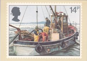 Stamps Of Great Britain Fishing Cockle Dredging Issued 23 September 1981
