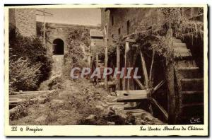 Postcard Old water mill Fougeres The four mills of the castle