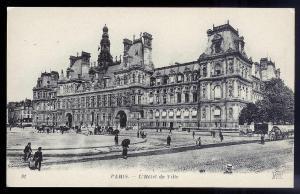 City Hall Paris France unused c1920