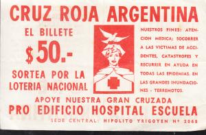 Cruz Roja Argentina 1961 Ticket and Announcement